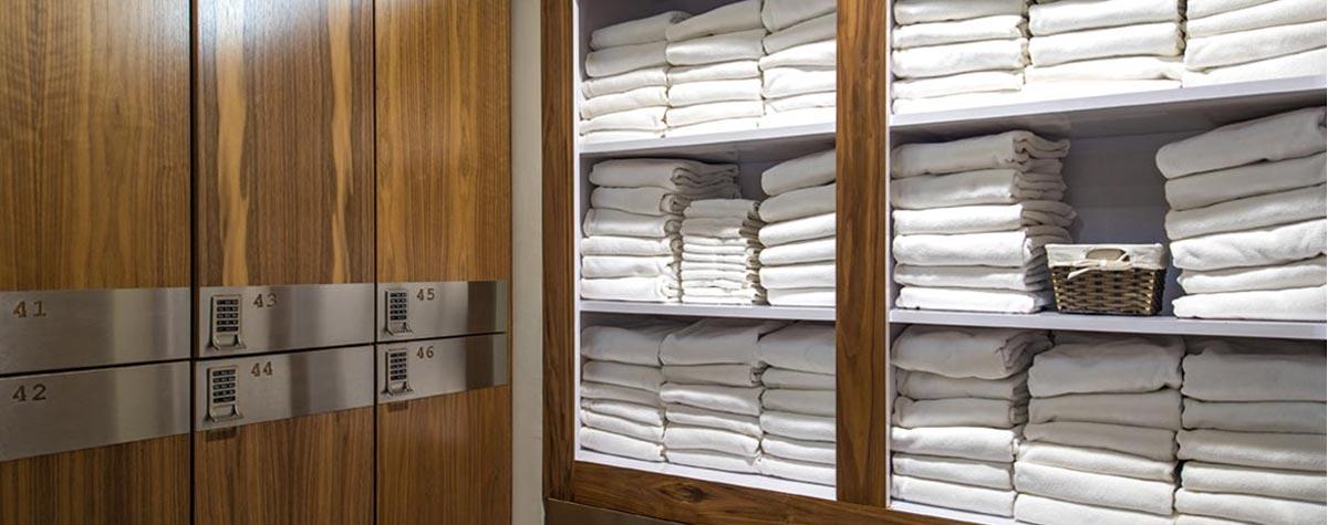 Zogics Wood Club Lockers Towel Drops