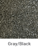 Grey and Black color sample of Zogics gym turf flooring.
