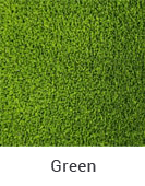 Green color sample of Zogics gym turf flooring.