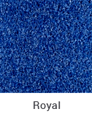 Royal color sample of Zogics gym turf flooring.