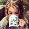 Does this Ring Make me look Engaged ceramic coffee mugs