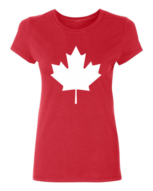 Canada maple leaf flag Ladies T-Shirt,red
