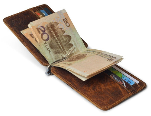 ,Kennyjacks luxurous Genuine men Leather Wallet bifold Coin purse.