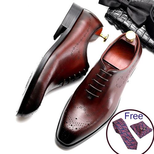 Men leather shoes business dress suit shoes