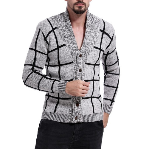 fashion Men Wool Jackets Button