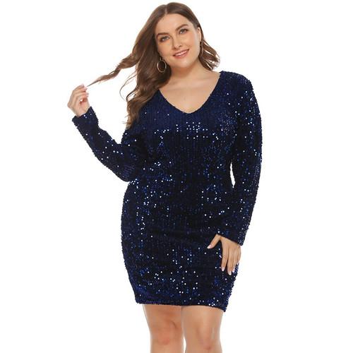 Oversized Dresses 4xl 5xl Glitter Dress