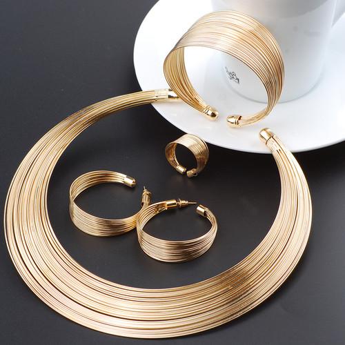 Fashion Dubai Gold Jewelry Sets