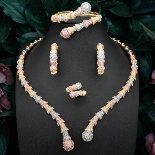 Necklace Earrings Bracelet Ring Full Set