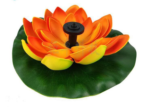 Lotus LED Solar Fountain Water Garden