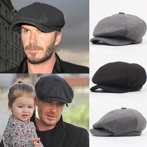 Wool Octagonal Cap Newsboy Beret Hat For Men'