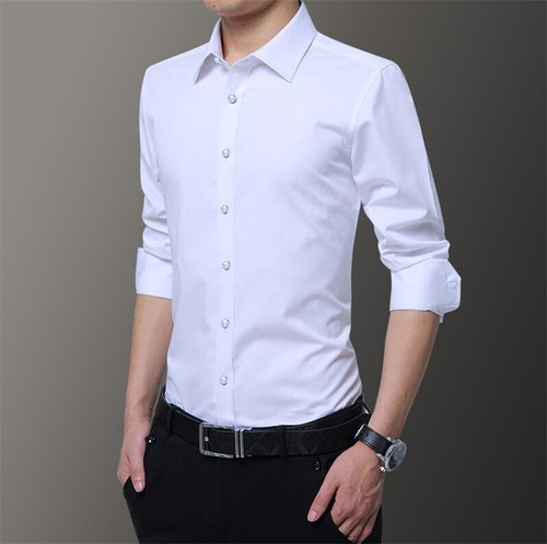 kennyjacks New fashion white shirt men's long sleeve
