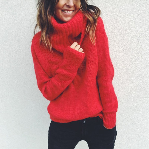 kenny jacks Red Turtleneck Sweater