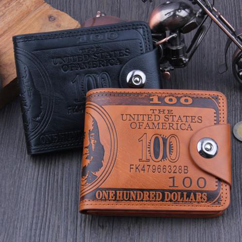 US Dollar Bill Wallet Brown