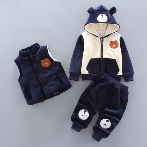 3 Pcs Autumn Winter Baby Clothing Sets