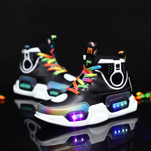 Boys Glowing Sneakers Kids Shoes