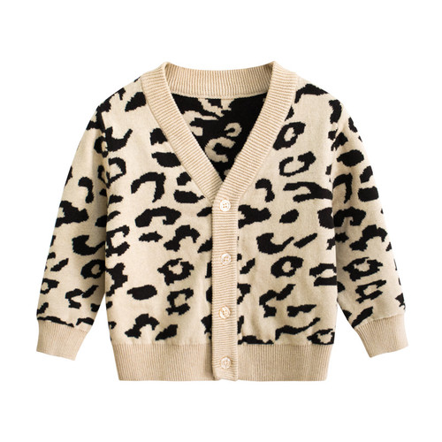 Children Long Sleeve Khaki Tops