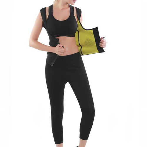 Loss Fat Burning Vest Capri Pants