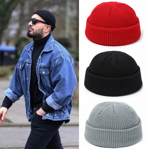 Cap Cuff Docker Fisherman Beanies Hats For Men