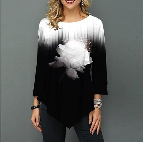 Female fashion shirt Tops Plus Size