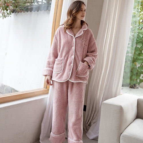 Long-sleeved Home Clothes Two-piece Sleepwear