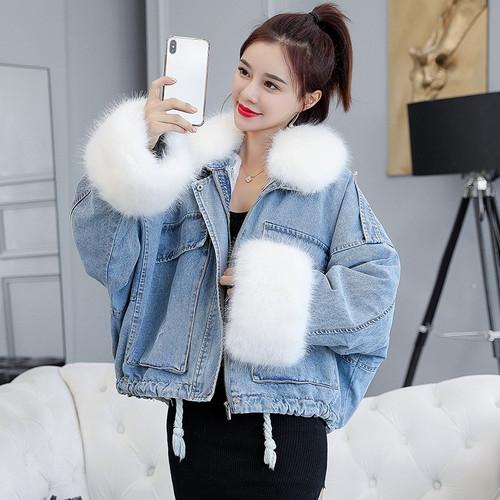 Loose Denim Coats Wool Denim Jacket