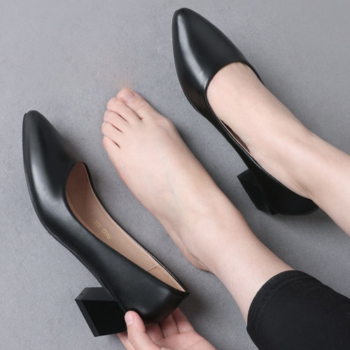 Square Pointed Toe Heels Pump