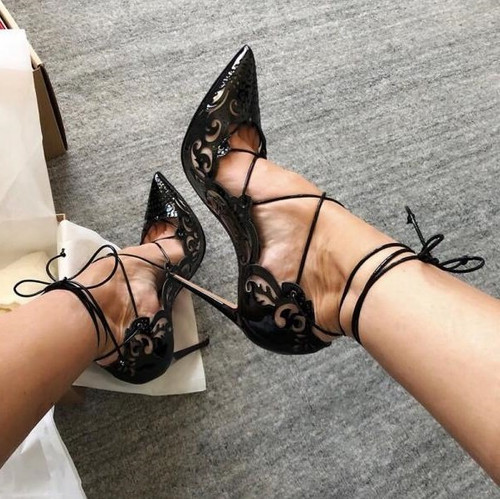 Heels Strappy Sandals Shoes Banquet Pump