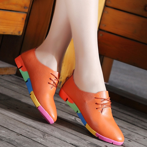 woman lace-up nurse shoes women sneakers