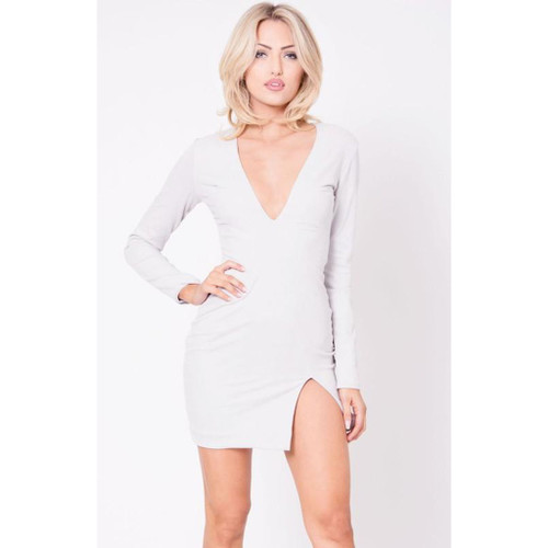 Faux Suede Mini Dress
