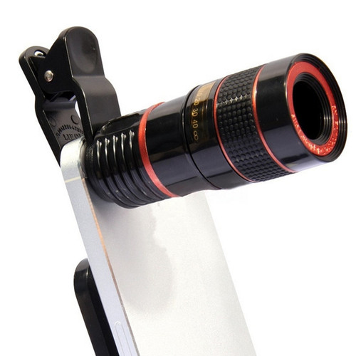 8X HD Zoom  Glass Microscope Lens for Mobile Phone Camera