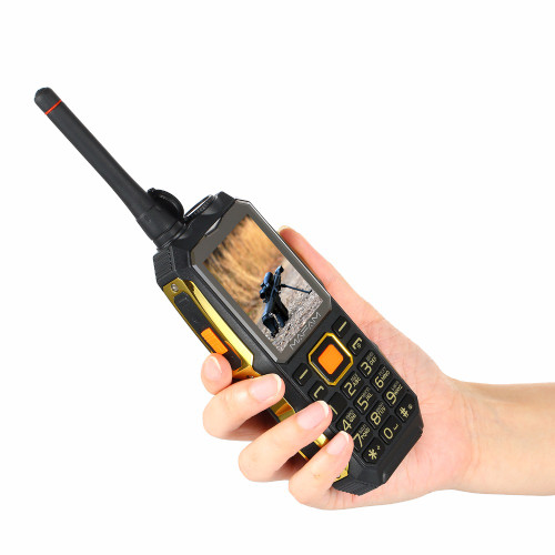 4000mAh Dual SIM Card, UHF Walkie Talkie wireless FM power bank Rugged shockproof mobile phone P156