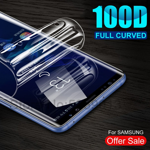 100D Full Cover Soft Hydrogel Film For Samsung Galaxy Note 10 9 8 S8 S9 S10 Plus S10e S7 Edge Screen Protector Protective Film