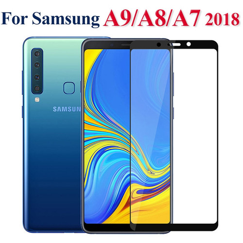 Tempered glass for Samsung A9 A7 2018 A6 A8 Plus 2018 Full Cover Screen Protector for Galaxy A5 2017 J6 Plus 2018 Safety film 9H