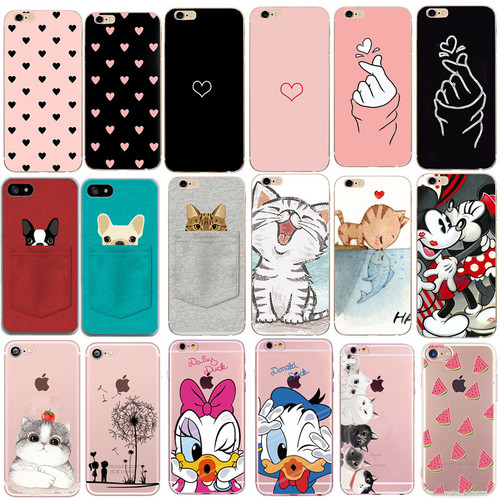 Case For Iphone 7 5 5S SE X XS 6 S 6S 7 8 Plus Cases Heart