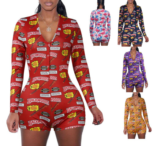 print rompers jumpsuit for women