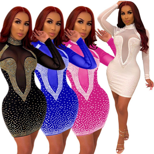 KJ Women Bandage Dress Sequin vestidos Ladies Club Dresses.