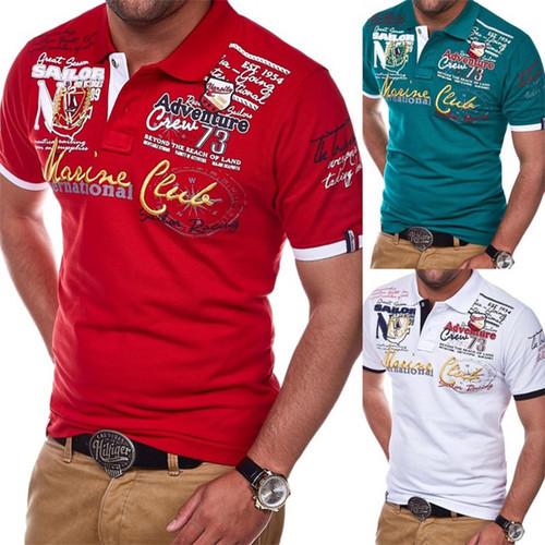 Polyester Fashion Personality Man POLO Shirt