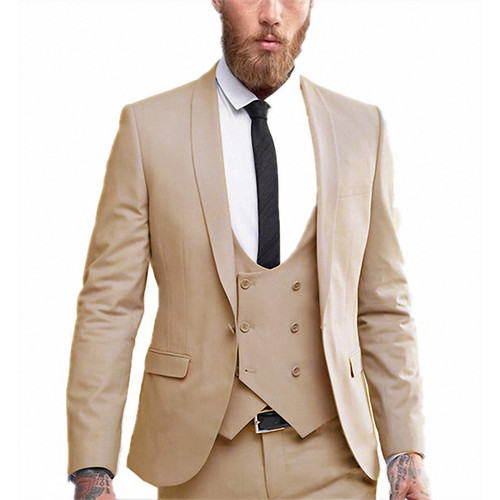 Mens Well-dressed Solid Color Business Tuxedo Suits