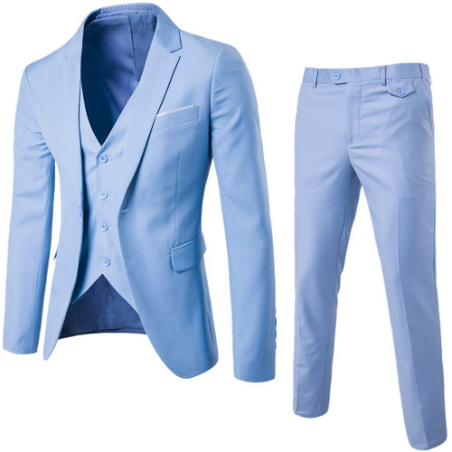 (Jacket+Pant+Vest) Luxury Men