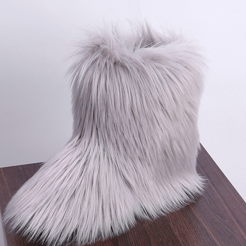 SWONCO Furry Snow Boots Women boots