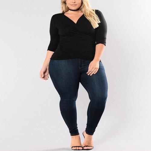 high waist slim denim fashion feet pants