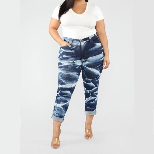 Loose Women Trousers High Waist Jeans