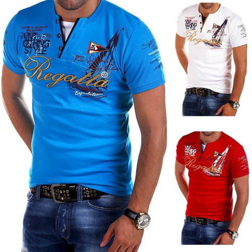 . Men's Fashion Personality Cultivating Shirt