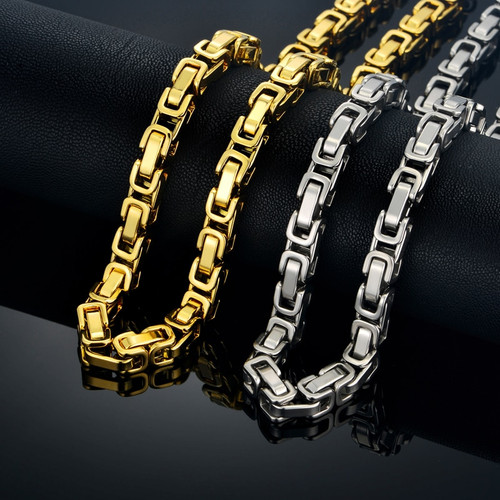 Color Linked Chain For Men's Jewelry
