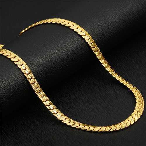 Necklaces 2019 Males Figaro Accessories