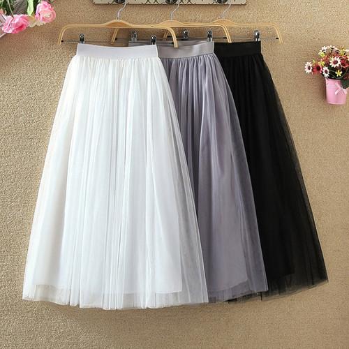 Black White Gray Maxi Skirt