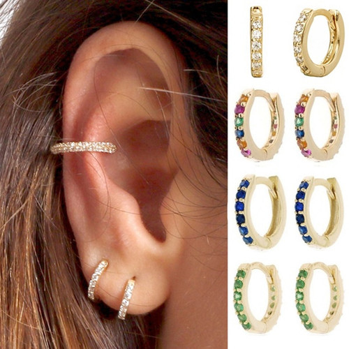 Stud Thin Hoops Gift