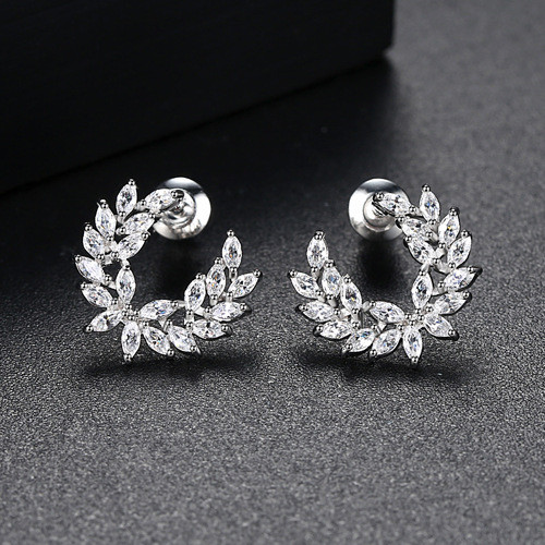 Tree Leaf Cute Earrings ZK40