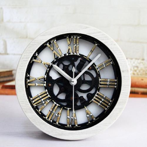 masa saatial fajr clock plastic Rome round