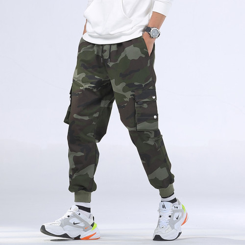 Winter Mens Outfit Cotton Hip Hop Camouflage Joggers